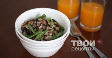 """""""Жареный рис с фасолью и грибами"""" - cамый вкусный рецепт :)"""