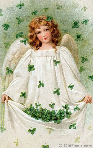 angelHoliday, Vintage Postcards, Saint Patricks Day, Irish Angels, Greeting Cards, St Patricks Day, Stpatrick, Guardian Angels, Vintage Cards