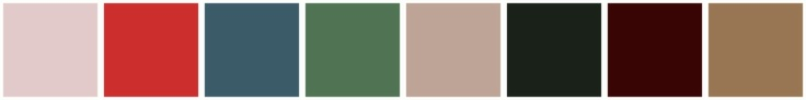Sample Palette for Antique Winter - The Keeper of the Hearth (not sure who came up with these)
