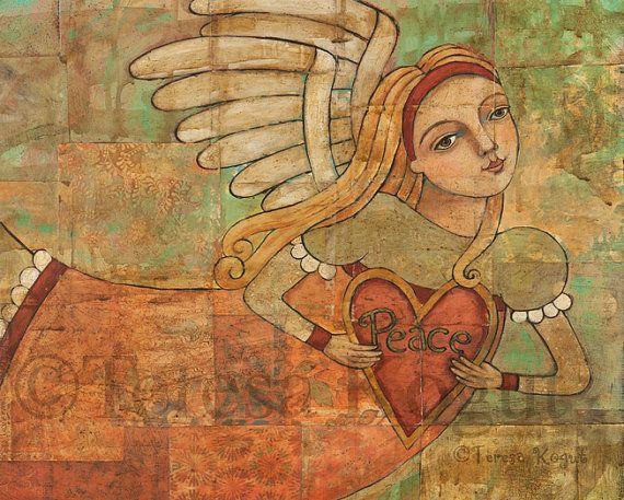 Peace in Your Heart 8x10 print by Teresa Kogut
