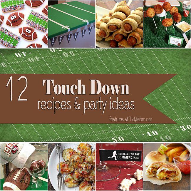 12 Super Bowl Recipe Party Ideas at TidyMom.net