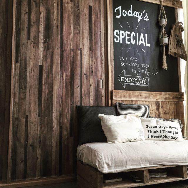 壁紙/ふすまリメイク/BRIWAX/賃貸/黒板/DIY…などのインテリア実例 - 2016-02-26 12:30:02 | RoomClip(ルームクリップ)
