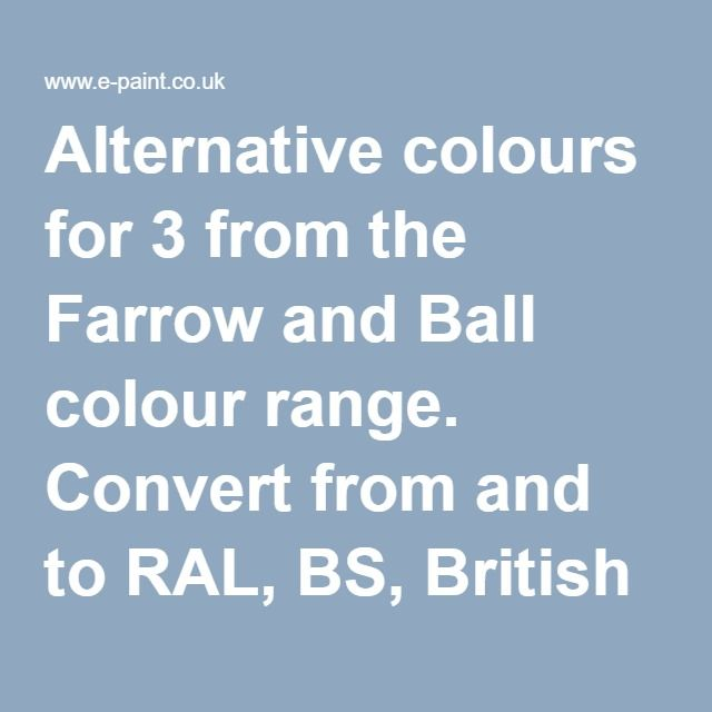 alternative colours for 3 off white from the farrow and ball colour range