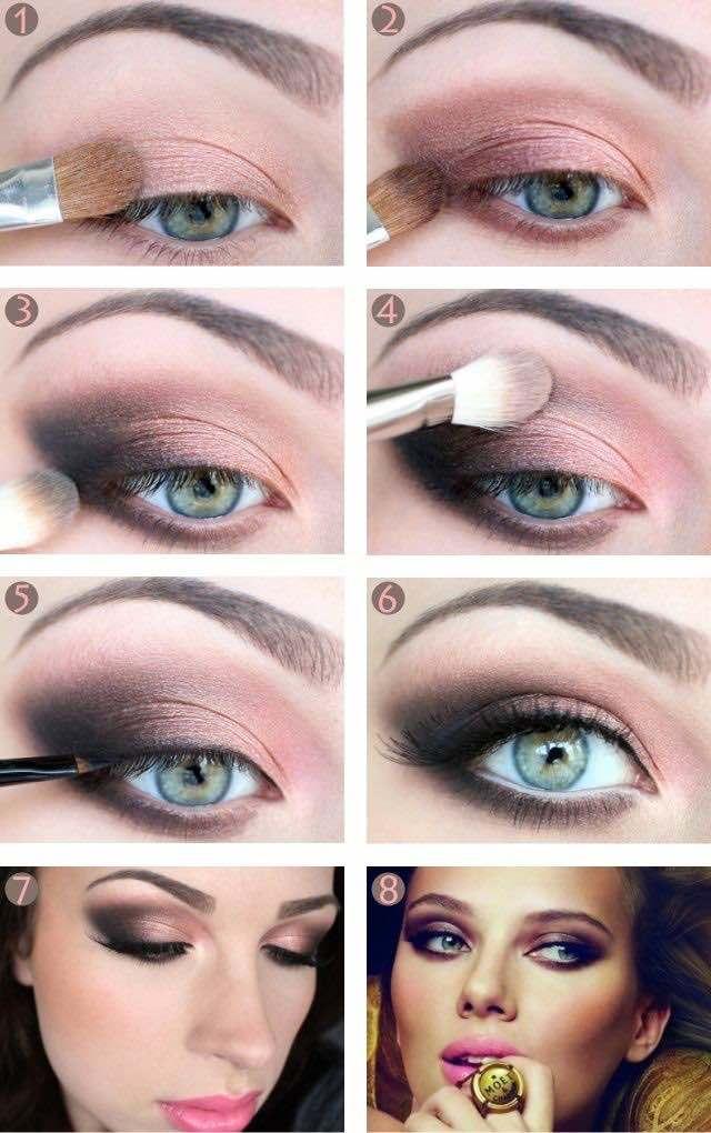 Maquillaje para ojos verdes paso a paso para tu boda, las sombras.