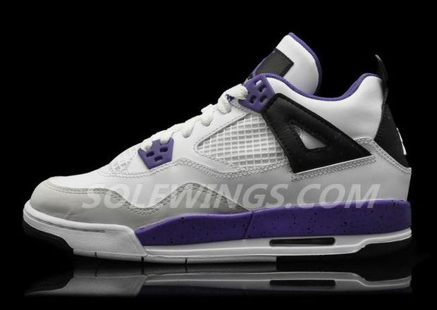 Air Jordan 4 GS White/Ultraviolet – New Images and Release Date