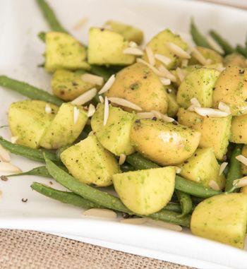 Potato and Green Bean Salad with Basil Pesto | EarthFresh