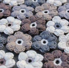 Hilde haakt: Pof-bloemetjes haken