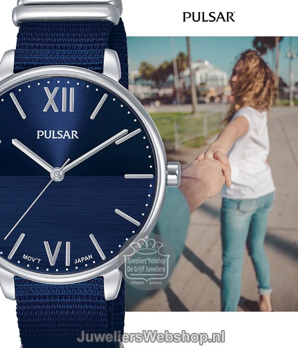 groot assortiment verschillende ontwerpen koop online Pulsar horloge PH8451X1 Dames Blauw in 2019 - Blauw ...