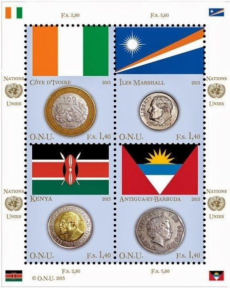 AFNB - Boletim Virtual: Moedas e Bandeiras, em Selos - Lançamento UNPA - ONU