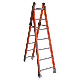 Werner 7-Ft Fiberglass 375-Lb Type Iaa Combination Ladder 7807