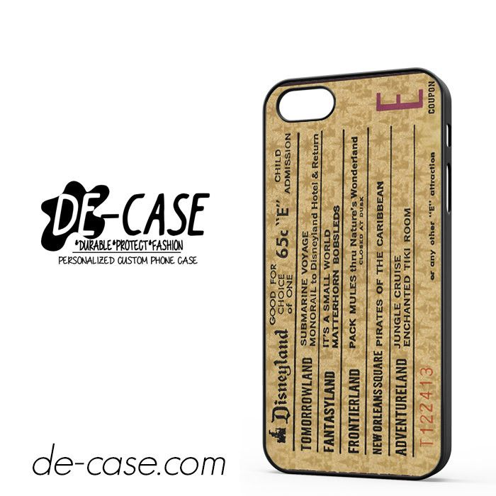 Classic Disneyland Ticket DEAL-2698 Apple Phonecase Cover For Iphone 5 / Iphone 5S