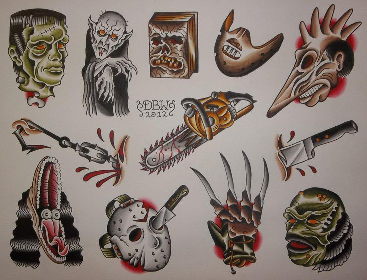 Movie maniacs american traditional tattoos tattoo respec for Classic american decorating style
