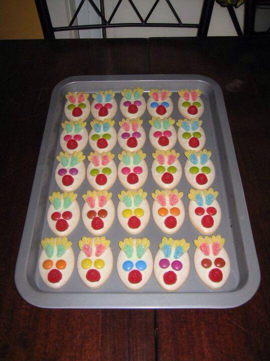 Reindeer face biscuits