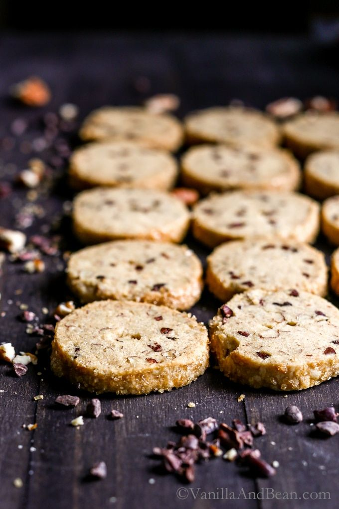 A cherished and easy shortbread cookie, these Cocoa Nibby Pecan Shortbread Cookies make a generous homemade gift or a festive treat to welcome guests. Make ahead easy and a long storage life make these cookies SO convenient.