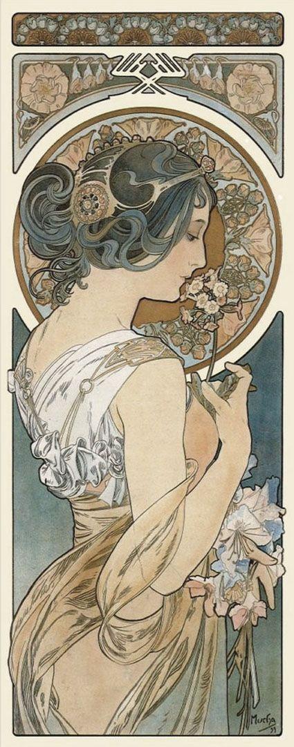 1899 Primrose © Alphonse Mucha Estate-Artists Rights Society (ARS), New York-ADAGP, Paris