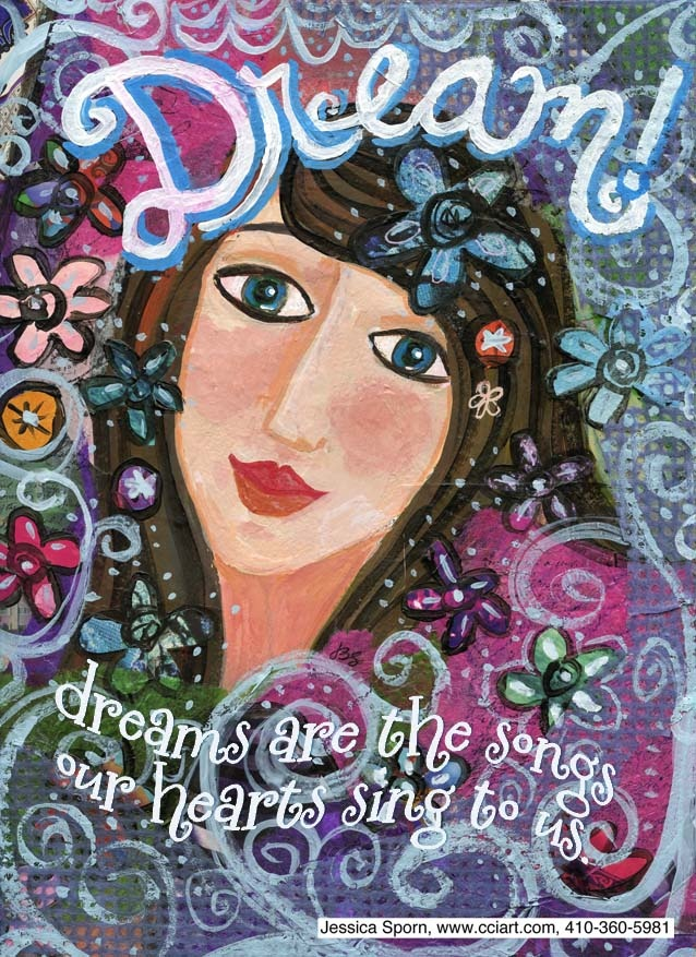 this started out so differently!  A zillion layers later, she emerged dreamily.Jessica Sporn Design, Art Naif, Art Journals, Jesica Sporn, Yoga Art, Art Prints, Jessicasporn, Inspiration Art, Songs Art