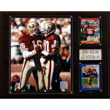 C Collectables NFL 12x15 Montana-Rice San Francisco 49ers Player Plaque