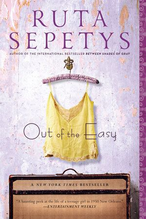 Marketing Coordinator Bri Lockhart recommends OUT  OF THE EASY by Ruta Sepetys