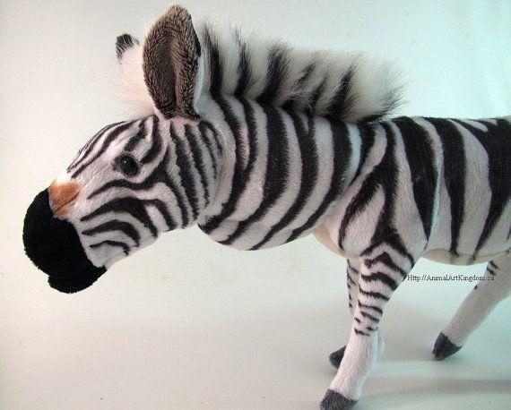 Handmade Zebra Horse Wildlife Plush Stuffed by AnimalArtKingdom