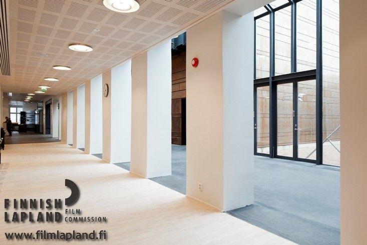 Korundi House of Culture in Rovaniemi, Finnish Lapland. #filmlapland #finlandlapland #arcticshooting