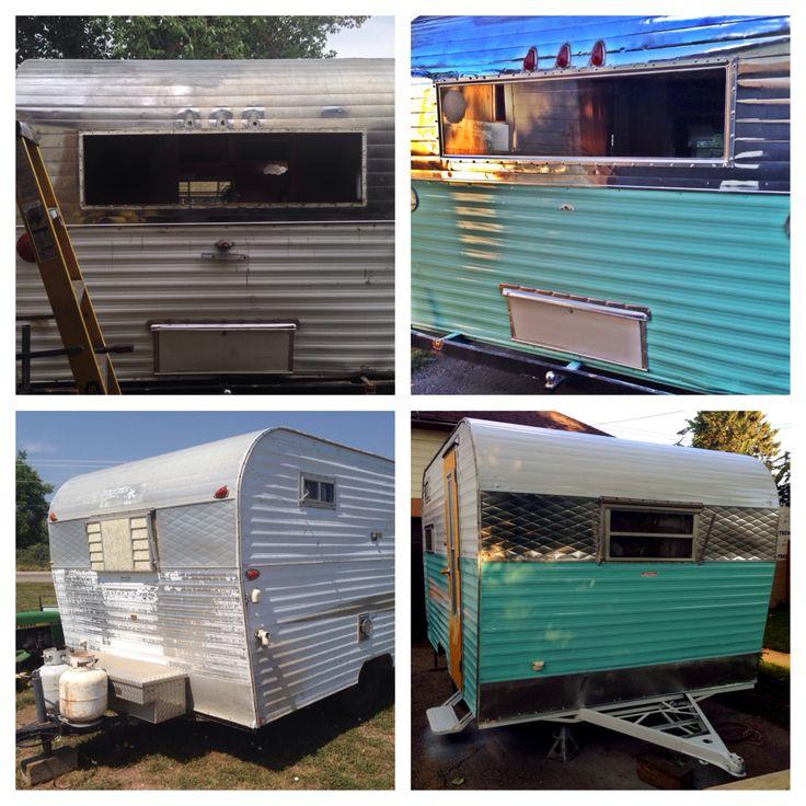 Aluminum Polished And Re Painted 1969 Roadrunner Vintage Camper Travel Trailer Caravan