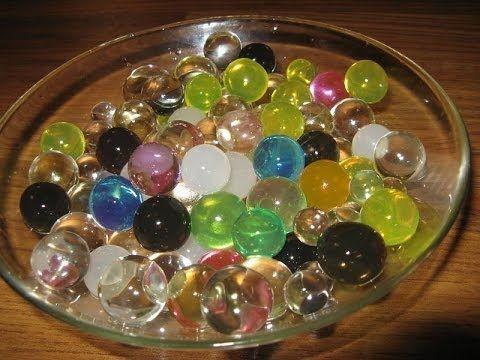 Как сделать растущие водные шарики.