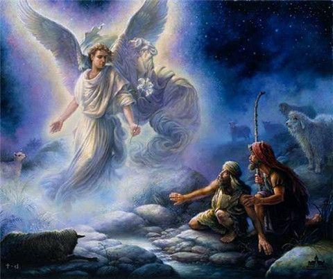anjel sa zjavil pastierom a zvestoval im narodenie Krista