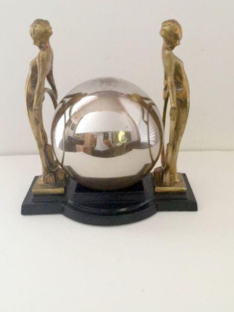 Rare Frankart Quoizel Art Deco Double Lamp