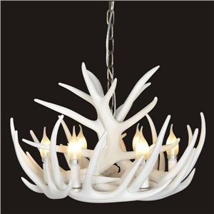 (In Stock) Rustic Cascade Chandelier Antler Chandelier Antler Lighting With  6 Lights White Dining. Geweih LichterGeweih KronleuchterKronleuchterSchlafzimmer  ...