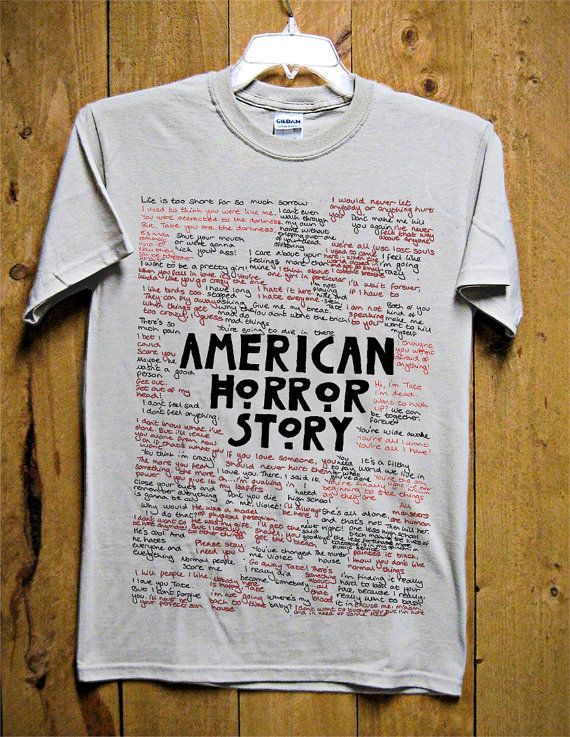American Horror Story Typography TShirt  American by GoldenMurup, $18.98