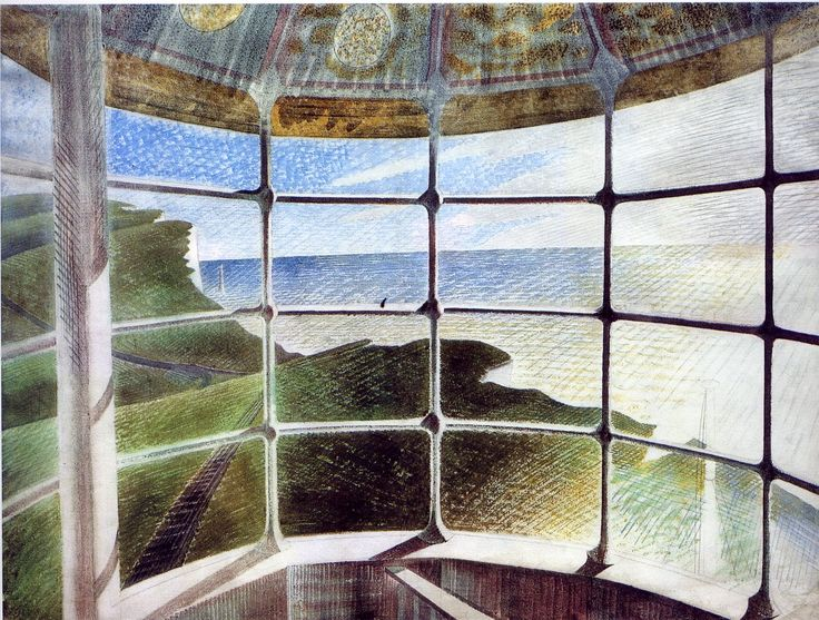 'Belle Tout Lighthouse' [1939 Eric Ravilious].