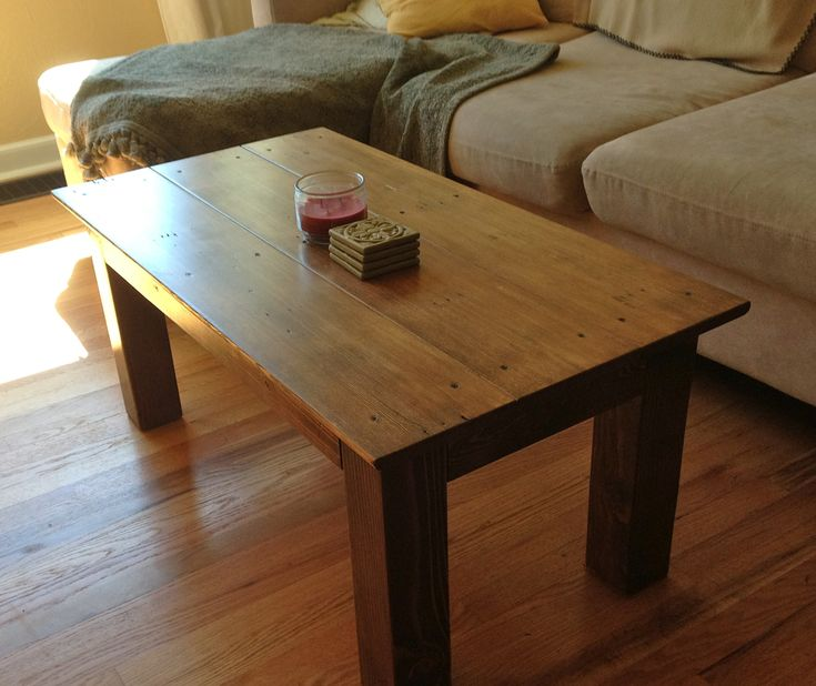 Coffee table made from 2x4 4x4 and repurposed base trim for Coffee tables 4x4