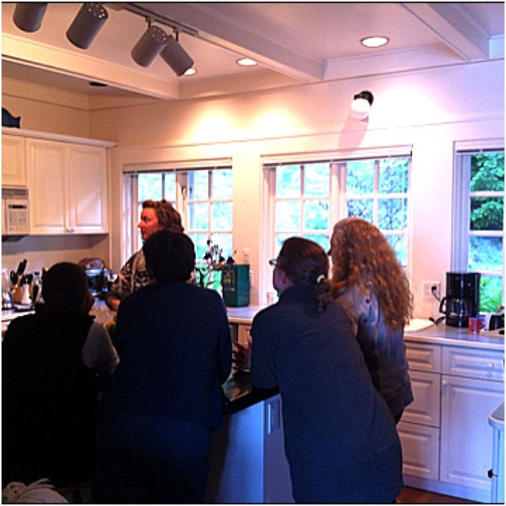 Workshop in the kitchen ~ Salt Spring Island Getaway