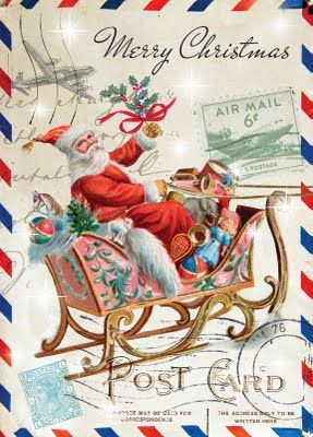 I always place vintage Christmas cards on a silver tray love them : )  Quest can not stop looking through them