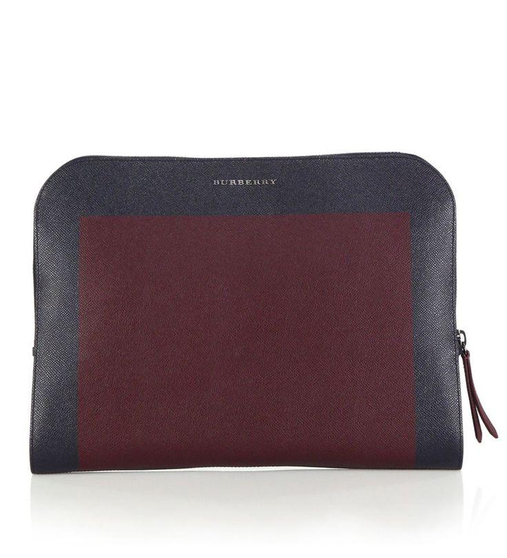 Burberry Forman Leather Portfolio Bordeaux-Navy            $189.00