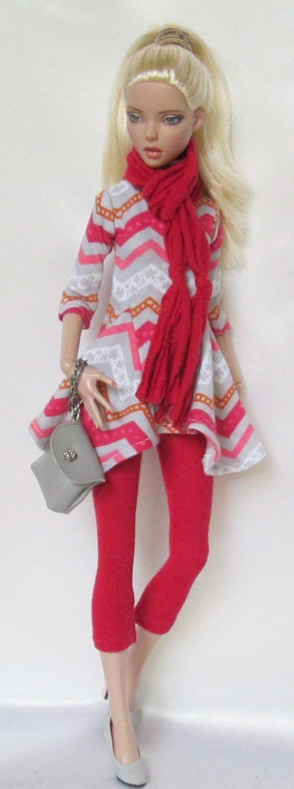 Find great deals on ebay for barbie hair extensions doll barbie light - Barbie S Ready For A Shopping Trip In Her Tunic Leggings And Scarf In Dark Pink