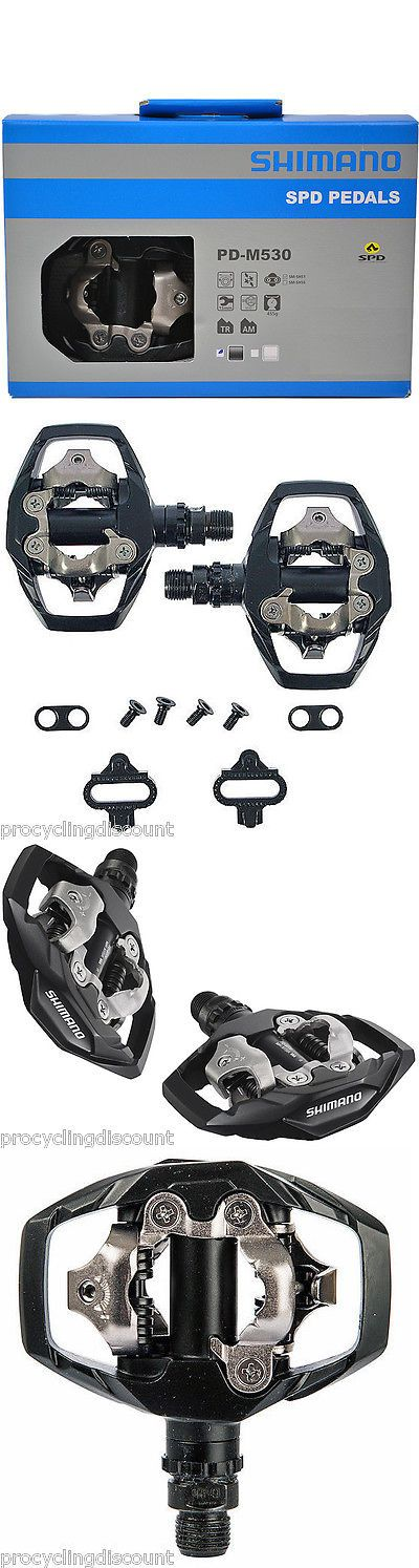 Pedals 36137: New 2017 Shimano Pd-M530 Mountain Bike Trail Dual Sided Spd Pedalsand Cleats Black -> BUY IT NOW ONLY: $34.88 on eBay!