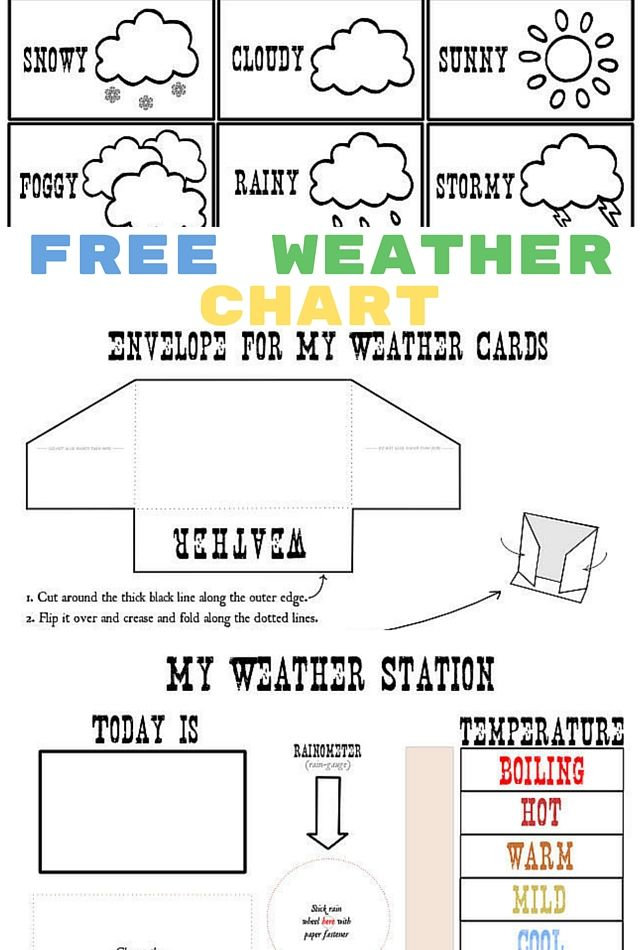 weather assignments for kids