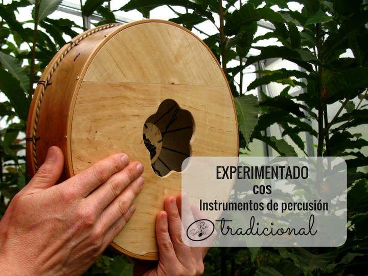 Experimentando cos instrumentos de percusion tradicional