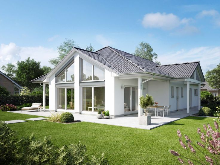 1000 ideen zu haus bungalow auf pinterest h user for Bungalow modern satteldach