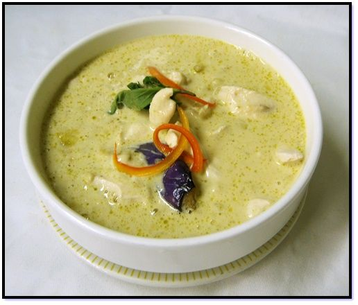 Thai Green Curry with Chicken, Shrimp, or Tofu - this is an easy from-scratch curry, no store-bought paste required! (dairy-free, gluten-free, optionally vegan)