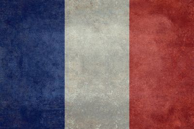 National Flag of France - Vintage Version Stretched Canvas