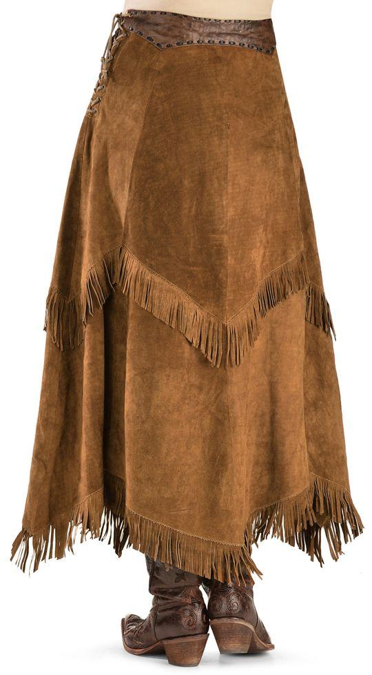 09a938775f Kobler Leather Women's Nancy Leather Fringe Skirt in 2019   Western ...