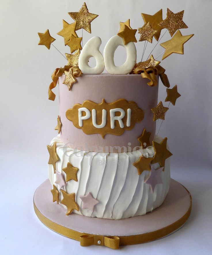 Fondant cake Glitter Birthday Stars
