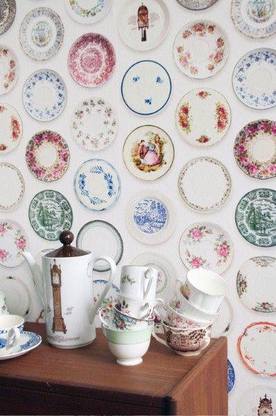 Studio Ditte behang Porselein kleurrijk bij Behangwebshop