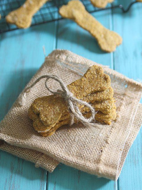 Peanut Butter Pumpkin Dog Treats | runningtothekitchen.com