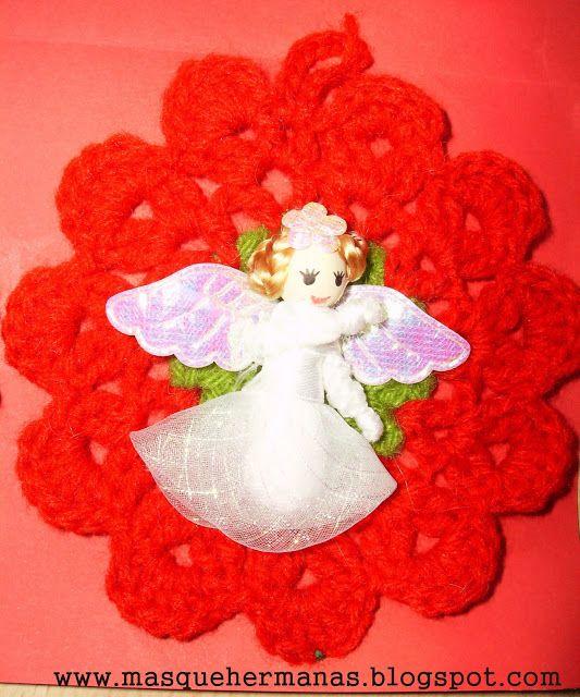 adornos navideos a crochet o ganchillo navideas para puertas
