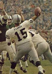 Tom Flores Oakland Raiders 1960-66, Buffalo Bills 1967-69 and Kansas City Chiefs 1969.