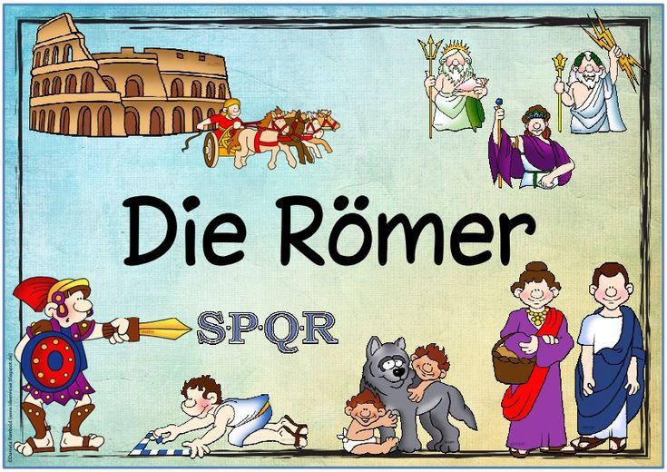 """Themenplakat """"Die Römer""""   Kerstin hat sich Plakate zu Sachunterrichtsthemen gewünscht. Den Anfang macht nun ein Plakat  zum Thema """"Die Röm..."""