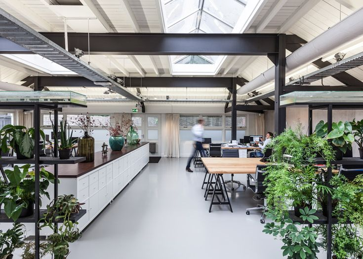 contemporary office spaces. studio aa has converted a former boiler house in south amsterdam to create contemporary office spaces